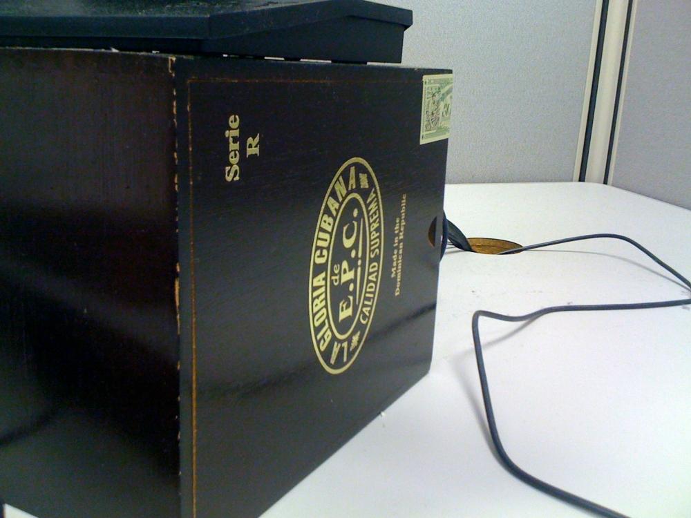cigar box?