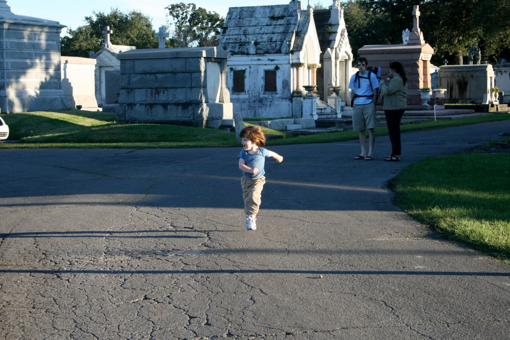 running in the cemetery