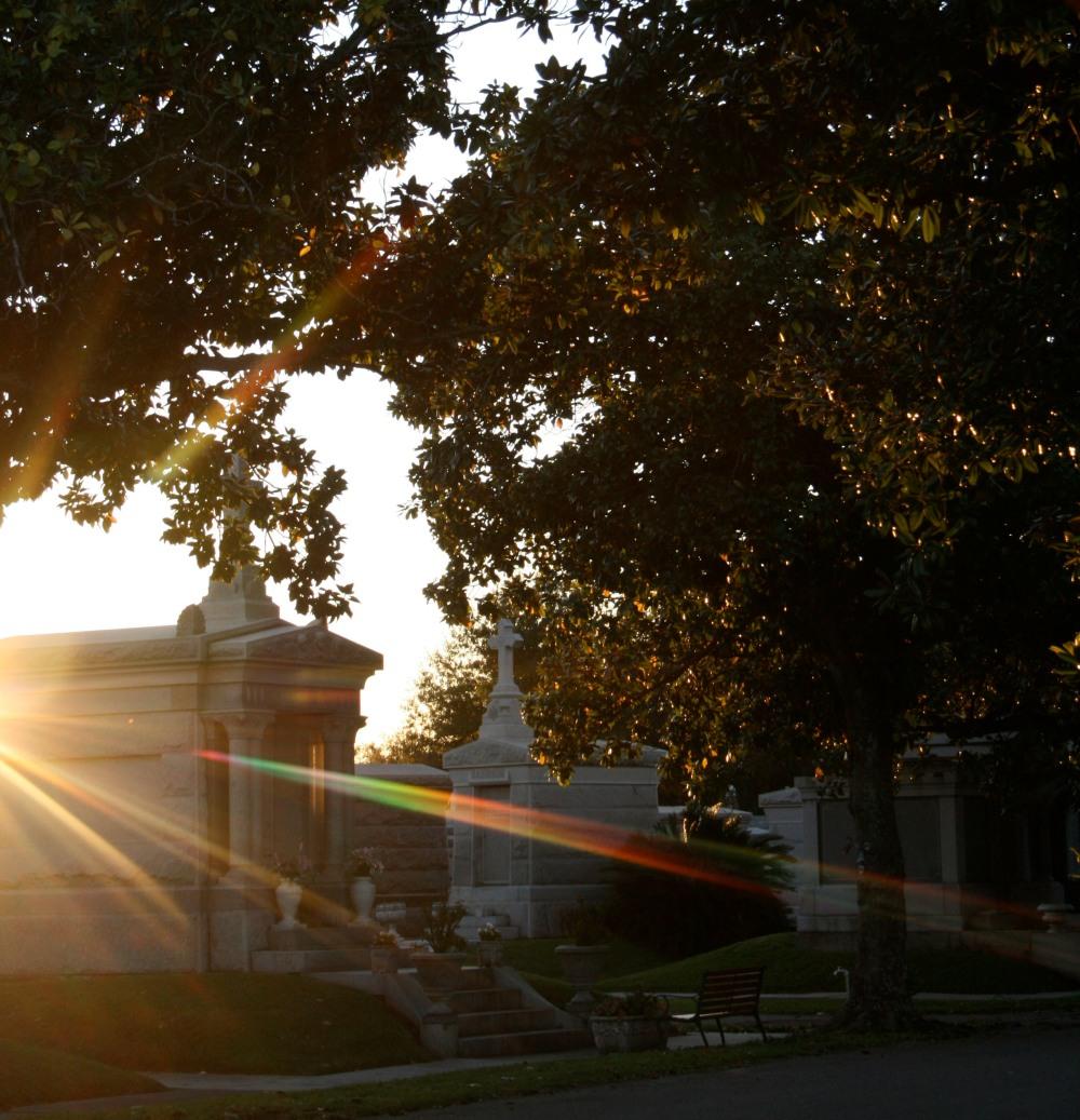 sunstreaks at metairie cemetery