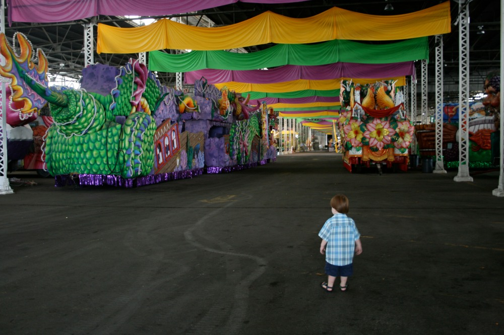 mardi gras float warehouse