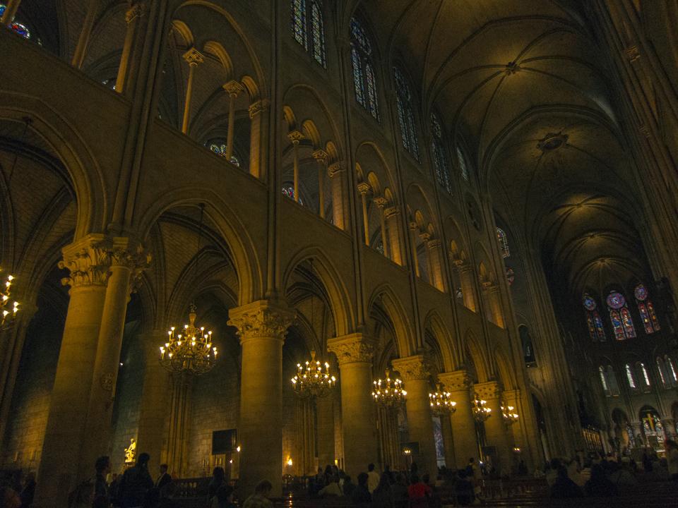 Interior, Notre Dame de Paris