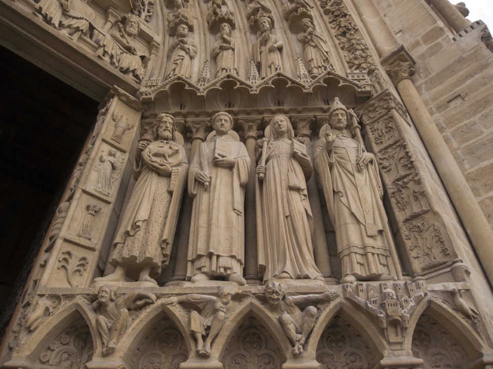 Jambs, Portal of the Virgin, Notre Dame de Paris