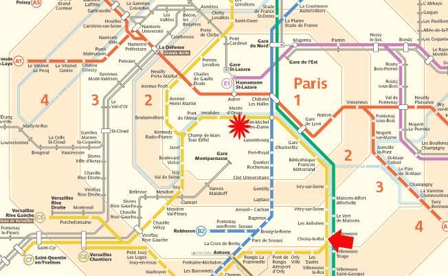 Zone Metro Paris Map