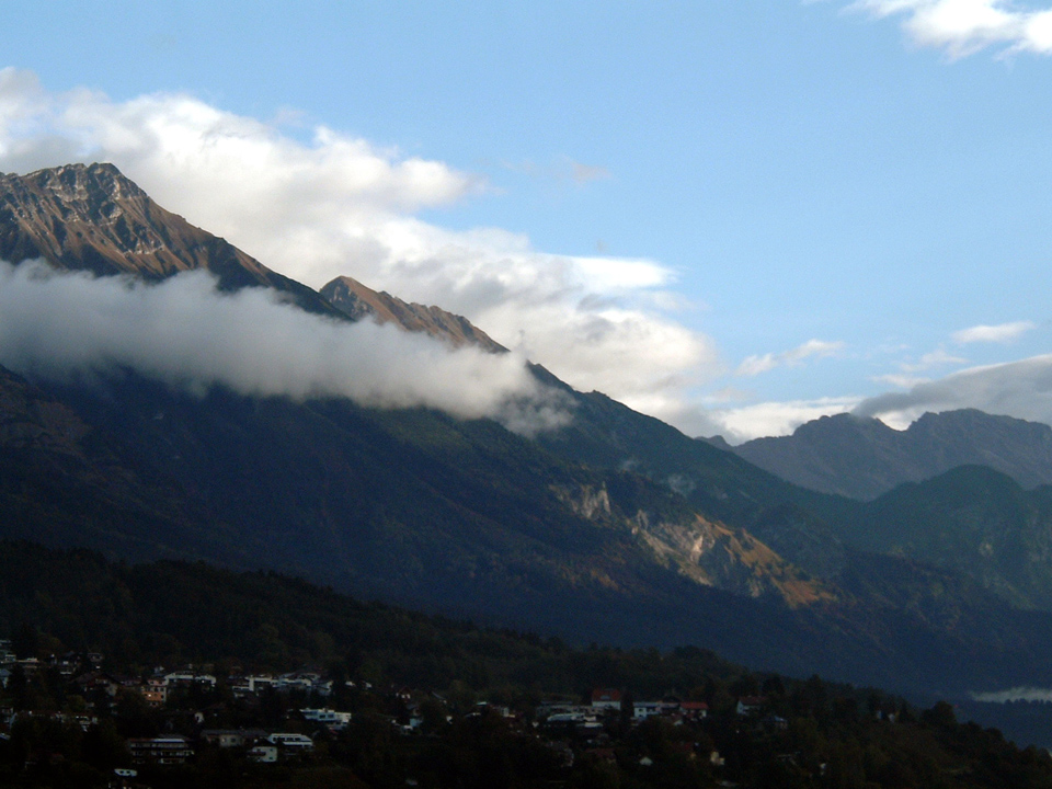 Photo from my time in Innsbruck in 2004 - the view from our bus stop.