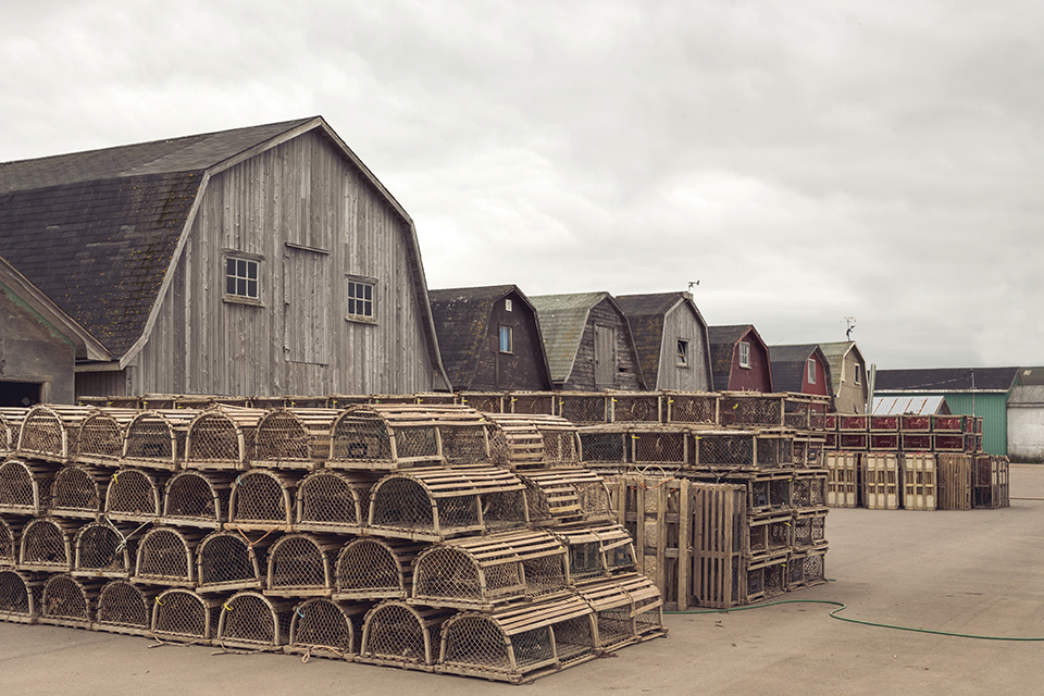 Mapeque-Harbor-Lobster-Traps-Fishing-Huts